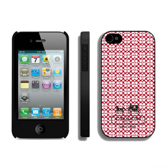 Coach In Confetti Signature Red iPhone 4 4S Cases AIS