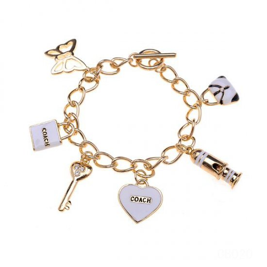 Coach Fashion Charm White Bracelets CVW