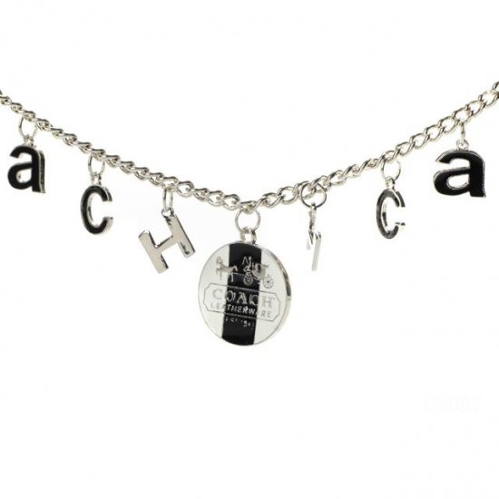 Coach Logo Float Silver Necklaces CYL