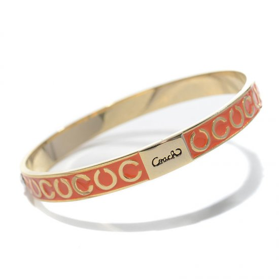 Coach Thin Op Art Pave Orange Bracelets BZS