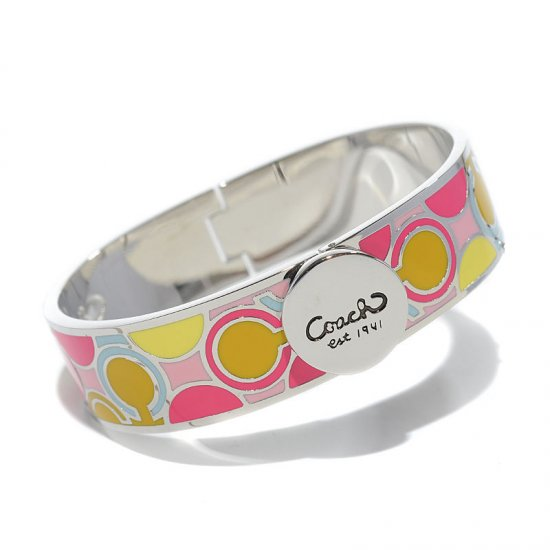Coach Linked Signature C Pink Bracelets AKQ