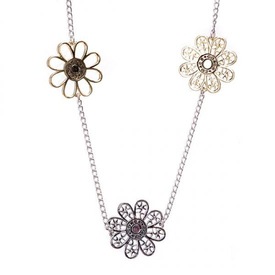 Coach Flowers Silver Necklaces ALQ
