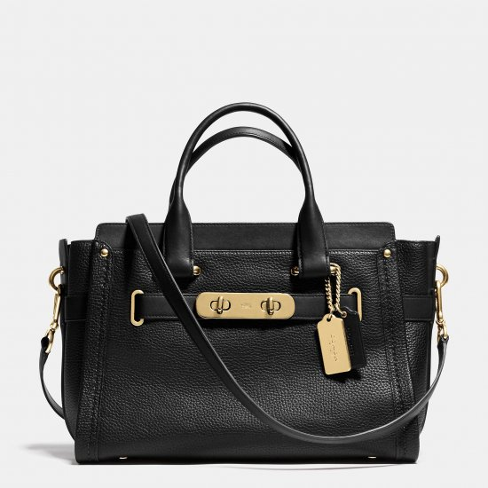 COACH SWAGGER CARRYALL 32 IN PEBBLE LEATHER