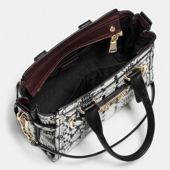 COACH SWAGGER 27 IN COLORBLOCK EXOTIC EMBOSSED LEATHER