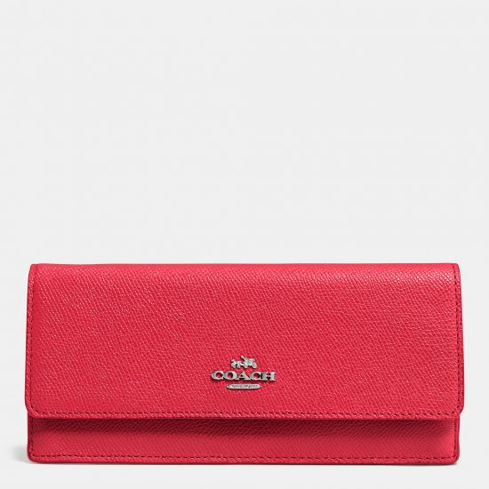 SOFT WALLET IN EMBOSSED TEXTURED LEATHER