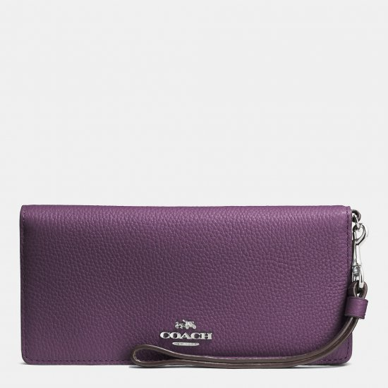 SLIM WALLET IN COLORBLOCK LEATHER